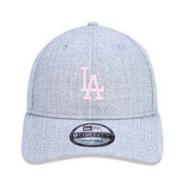 Boné New Era Aba Curva Los Angeles Dodgers Cinza - Strapback