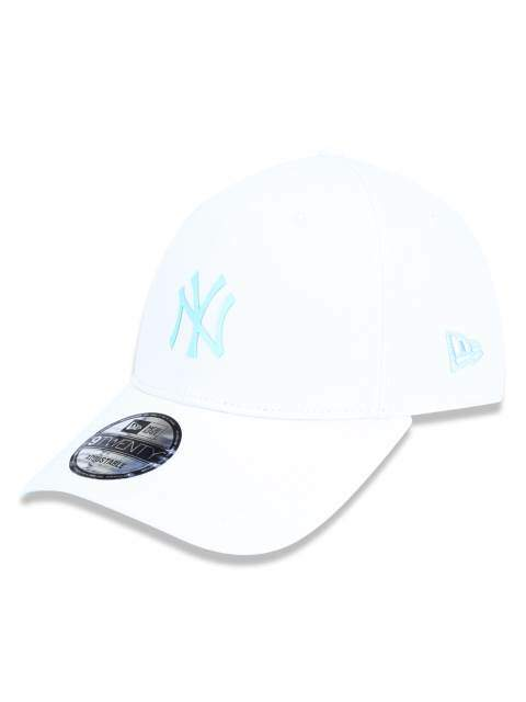 Boné New Era Aba Curva New York Yankees Branco/Azul - Strapback