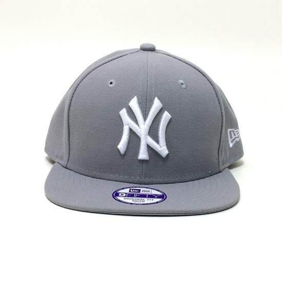 Boné New Era Infantil Youth New York Yankees Original Fit Cinza - Snapback