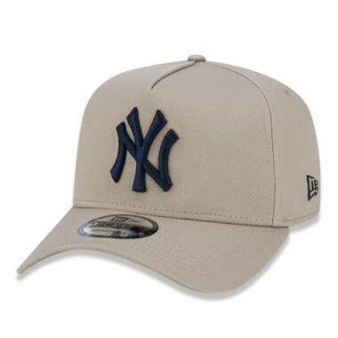 Boné New Era Aba Curva A-Frame New York Yankees Bege - Snapback