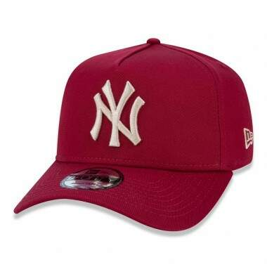 Boné New Era Aba Curva A-Frame New York Yankees Vinho - Snapback
