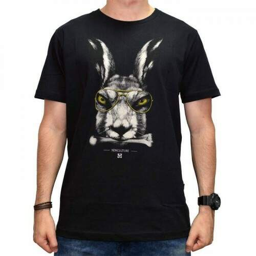 Camiseta New Skate Rabbit - Preto