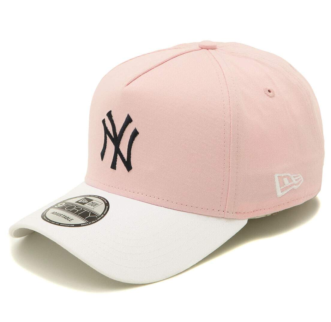 ea06f067a2c79 Boné New Era Aba Curva 940 New York Yankees Rosa - Strapback