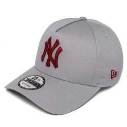 Boné New Era Aba Curva A-Frame New York Yankees Cinza - Snapback