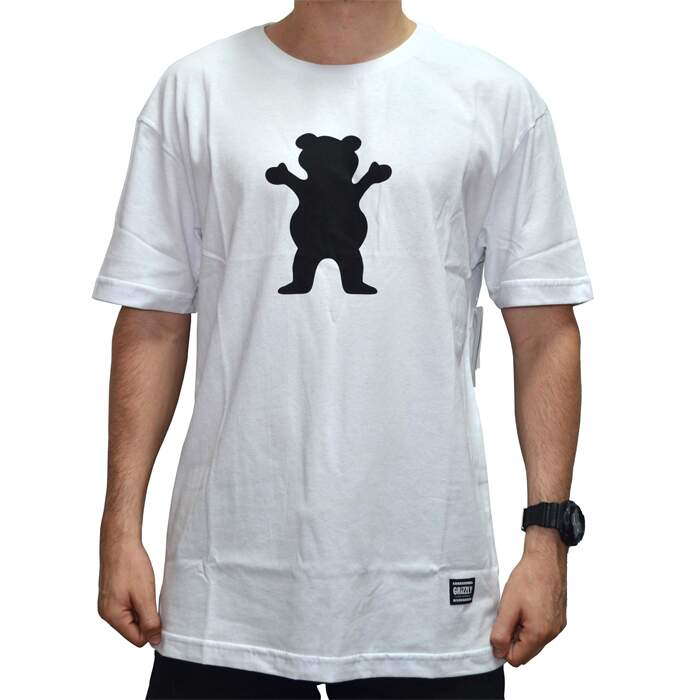 Camiseta Grizzly OG Bear Logo Tee - White