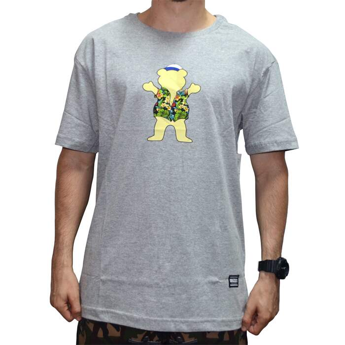 Camiseta Grizzly Kahuna Og Bear - Mescla