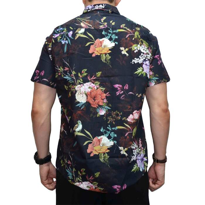 Camisa Your Face Floral - Preto