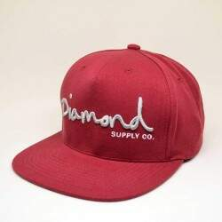 Boné Diamond Supply Co Og Script Burgundy - Snapback