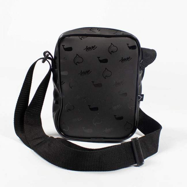 Bolsa Lateral Save Shoulder Bag Whale - Preto