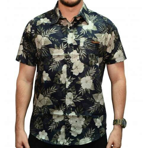 Camisa Your Face Flowers - Cinza