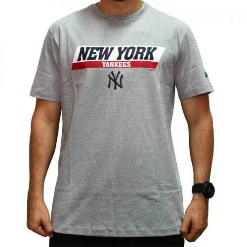 Camiseta New Era MLB Sport New York Yankees - Cinza