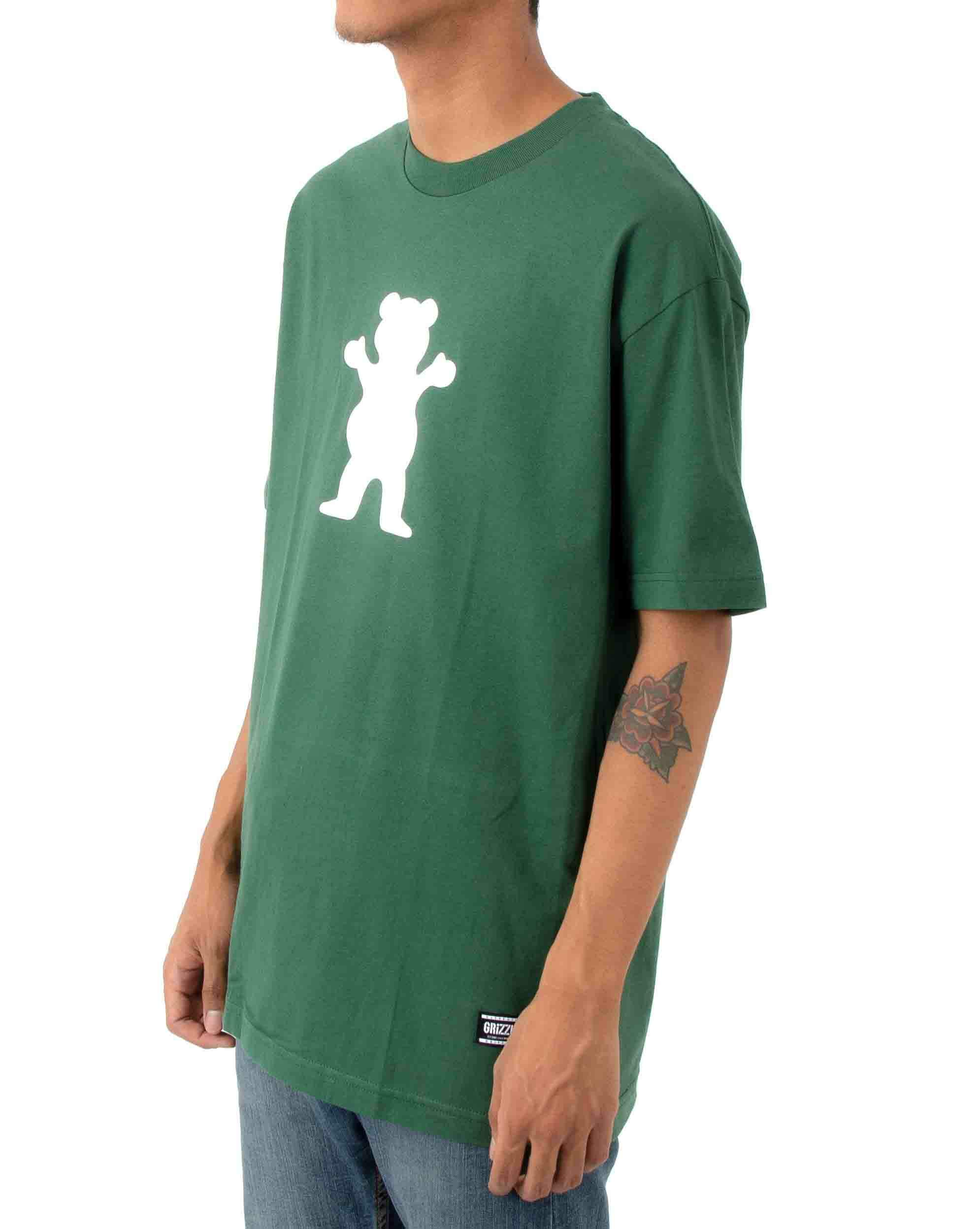Camiseta Grizzly OG Bear Logo Tee - Forest Green