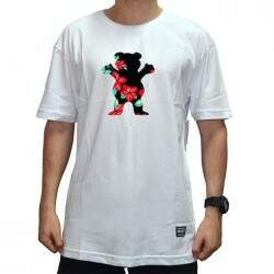 Camiseta Grizzly Luan OG Bear Logo Tee - White