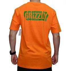 Camiseta Grizzly Leaf Cotout - Orange