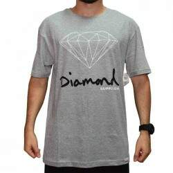 Camiseta Diamond Supply Co Og Sign - Cinza