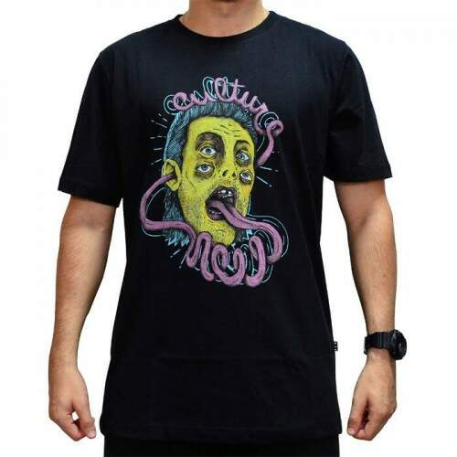 Camiseta New Skate Tongue - Preto