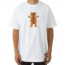 Camiseta Grizzly Tiger Stripe - White
