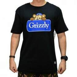 Camiseta Grizzly Travel Bear - Black