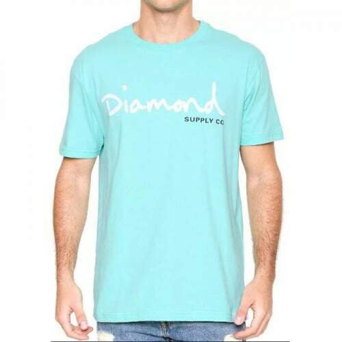 Camiseta Diamond Supply Co Og Script - Blue Diamond