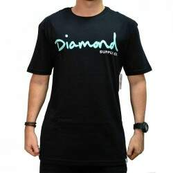 Camiseta Diamond Supply Co Og Script - Black