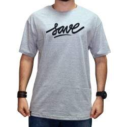 Camiseta Save Logo - Cinza