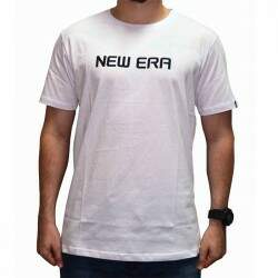 Camiseta New Era Essentials Logo - White