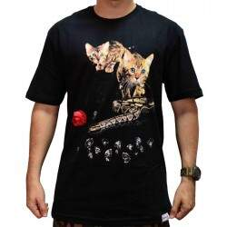 Camiseta Diamond Supply Co Cat - Black