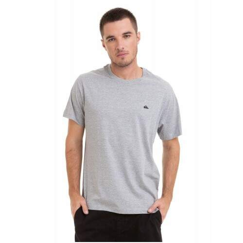 Camiseta Quiksilver Chest Embroidery - Cinza