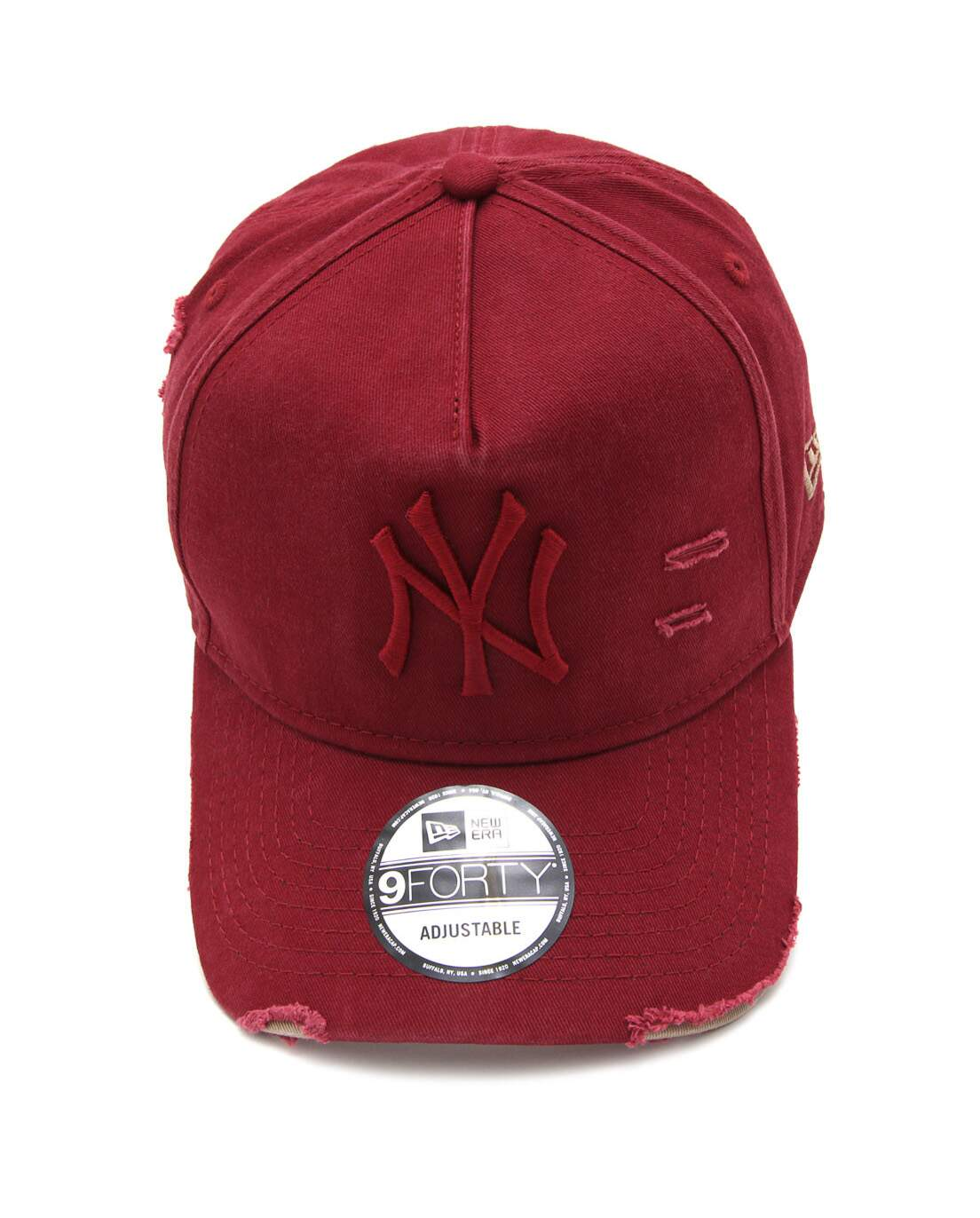 Boné New Era Aba Curva A-Frame Destroyed New York Yankees Vinho - Snapback