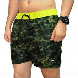 Short Hd Volley - Camuflado/Amarelo