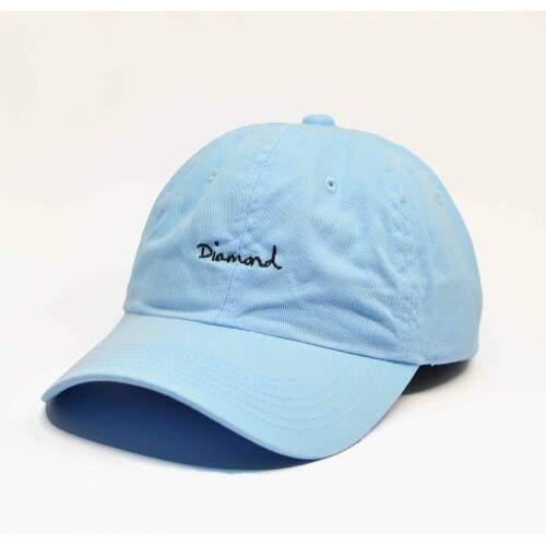 Boné Diamond Og Script Dad Hat Blue - Strapback