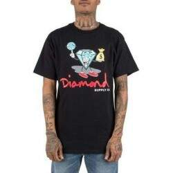 Camiseta Diamond Supply Co Hoop Dreams - Preta