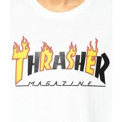 Camiseta Thrasher Flame Mag - Branco