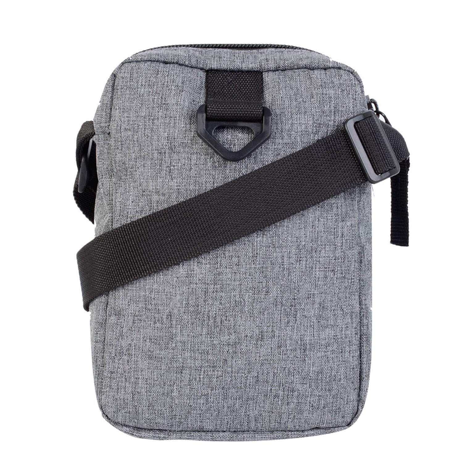 Bolsa Lateral Grizzly Shoulder Bag Logo Og Bear - Cinza