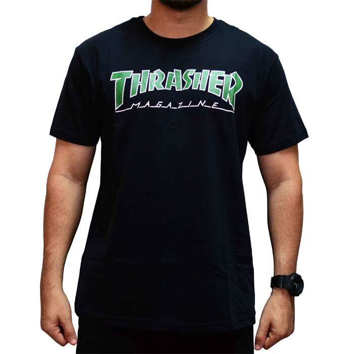 Camiseta Thrasher Outlined - Preto