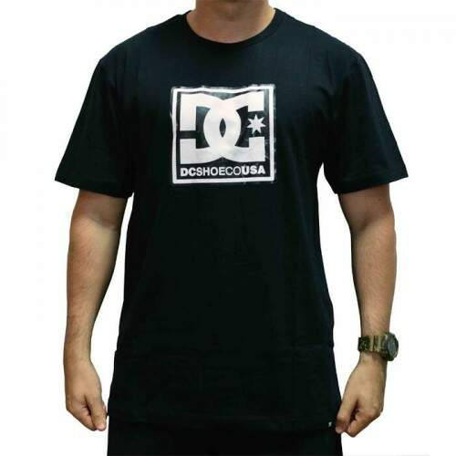 Camiseta Dc Patten Box - Preto