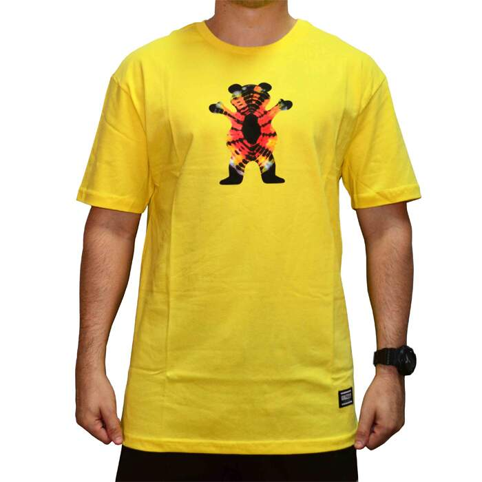 Camiseta Grizzly Og Og Bear Tie Dye - Banana