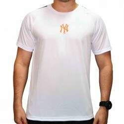 Camiseta New Era Mbv Performance Dry Fit New York Yankees - White
