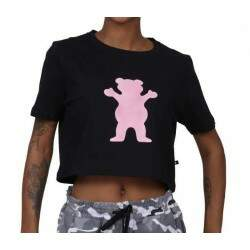 Cropped Grizzly Og Bear - Preto/Pink