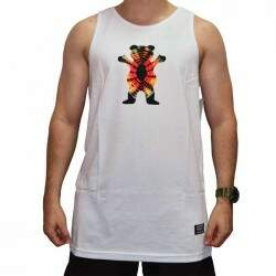 Camiseta Regata Grizzly Og Bear Tie Dye Tank - Branco