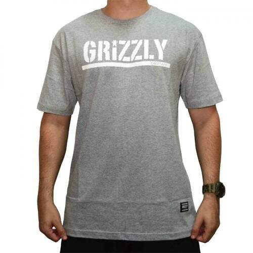 Camiseta Grizzly Stamped - Cinza