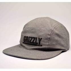 Boné Grizzly 5Panel Stamped Cinza - Strapback