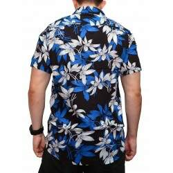 Camisa Your Face Floral - Preto/Azul