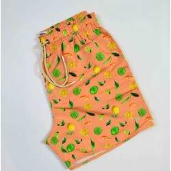 Short Acostamento Nylon Fruit - Laranja