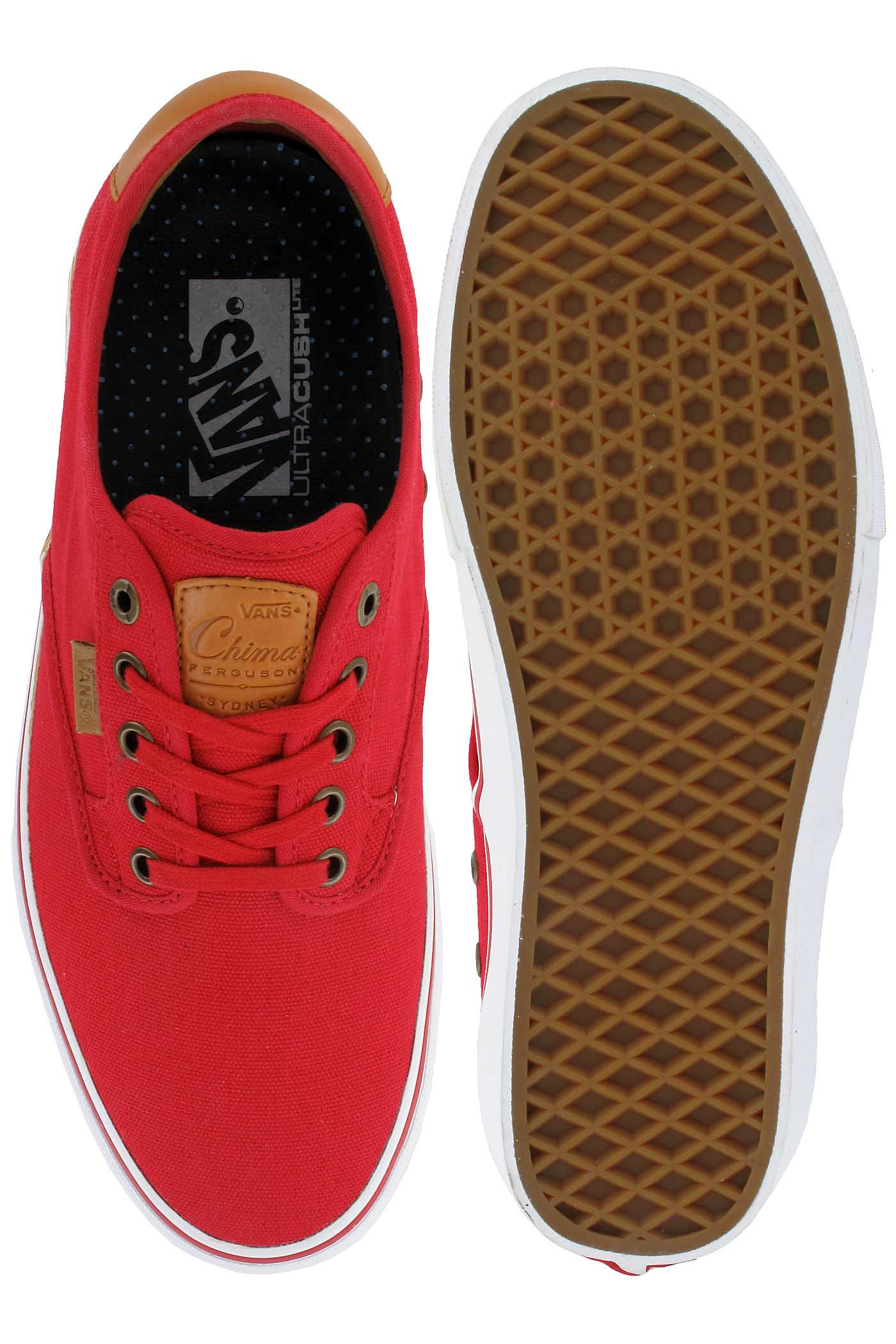 Tênis Vans Chima Ferguson Pro Red/ White/ Tan