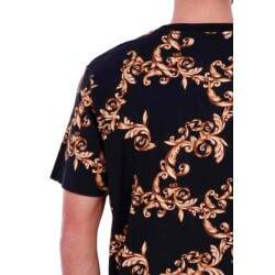 Camiseta Double G Flowers - Preto