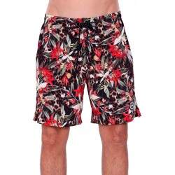 Short Double G Nylon Floral - Preto