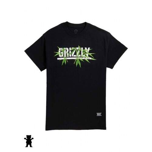 Camiseta Grizzly Seed Stamp - Black