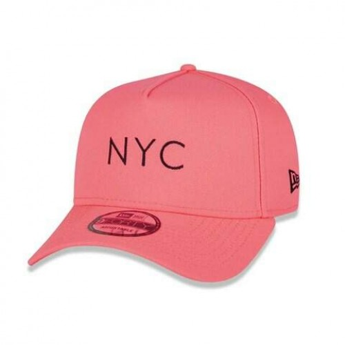 Boné New Era Aba Curva A Frame Simple Signature Fuor Nyc Pink - Snapback