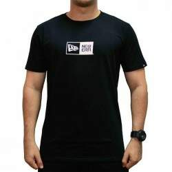 Camiseta New Era Essentials Logo Box - Preto